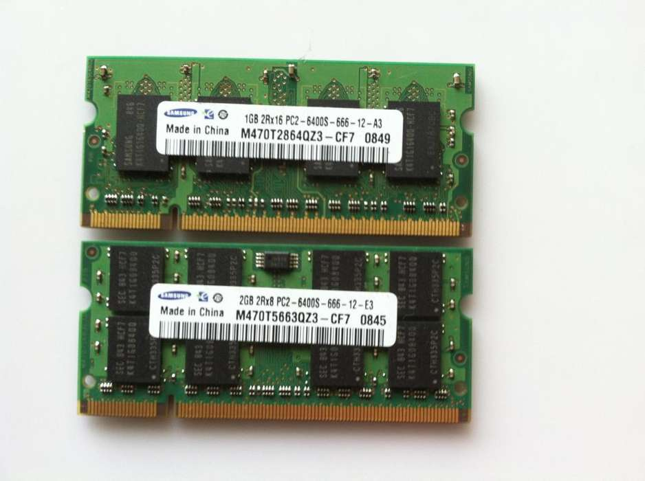 Memoria Ram Samsung 3gb Ddr2 Laptop Pc2-6400u-666-12-e3