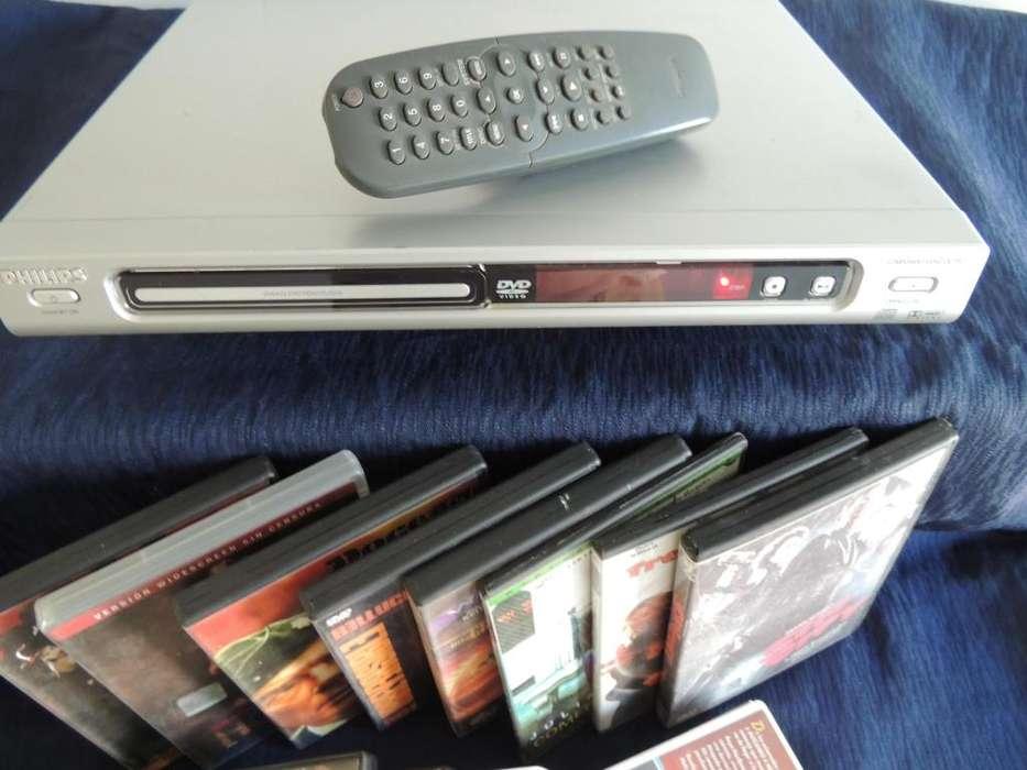 Equipo DVD Philips con cien películas de regalo.