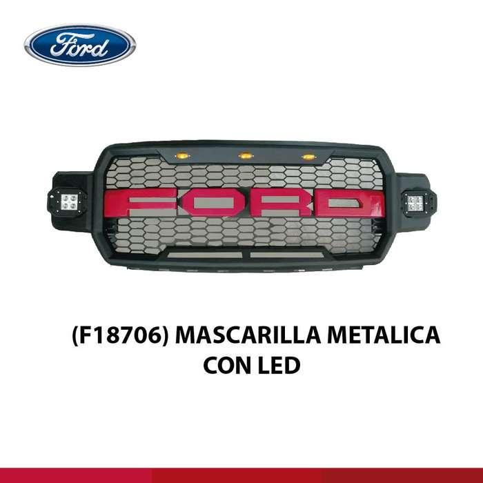 MASCARILLA METALICA CON LED