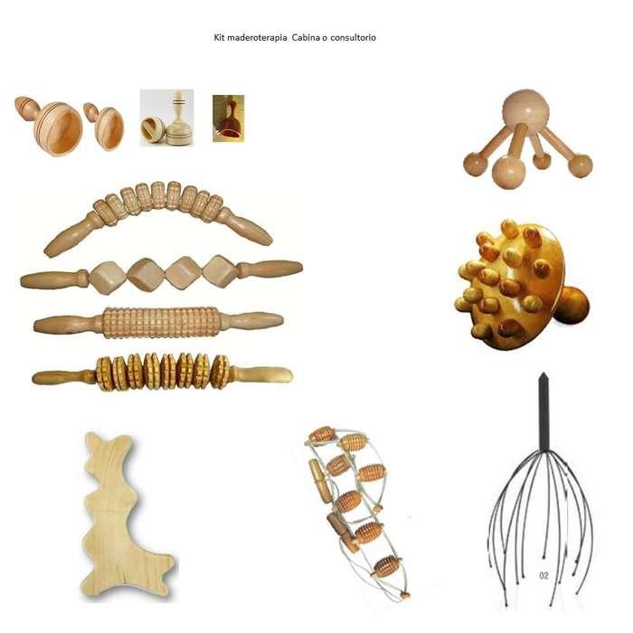 Maderoterapia Kit de 13 piezas para cabina Cali