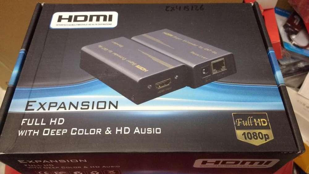 Expansión Full Hd 1080p Hdmi Super Extensor 60m Por Cat6e