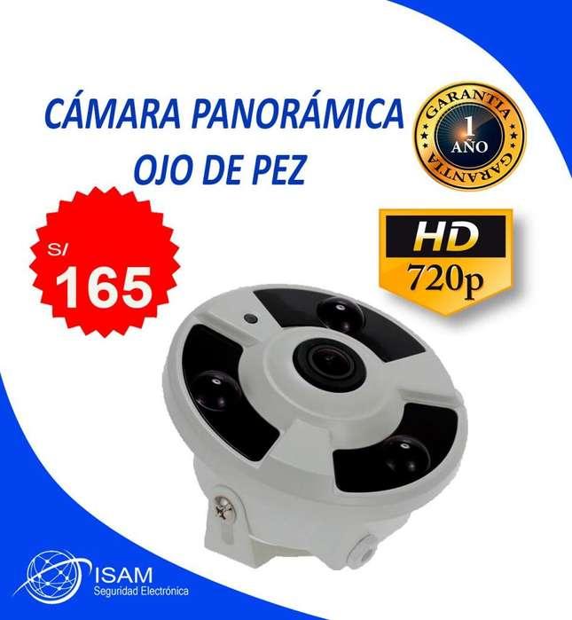 Cámara panorámica ojo de pez 720p Hd