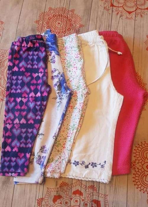 Pantalones y Calzas (5 Unidades) - Para Beba 12 A 18 Meses - Zona: Ramos Mejia