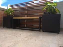 Mobiliario Metalico Exterior Terrazas - Materas - Bancas - Fuentes - Diseños especiales