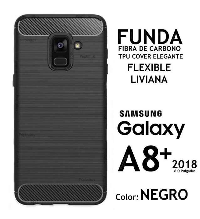 Funda Fibra De Carbono Elegante Samsung A8 2018 A8 Plus