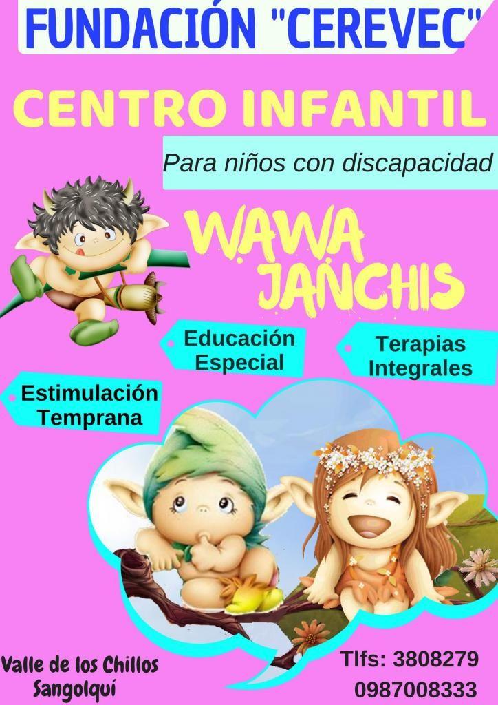 CENTRO INFANTIL PARA NIÑOS CON DISCAPACIDAD 0987008333 Valle de los Chillos