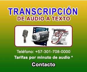 Transcripción AudioTexto AudioText Transcription