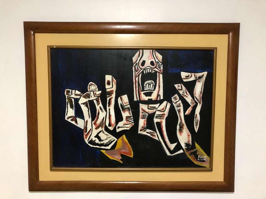 Pintura Oleo Guayasamin Replica