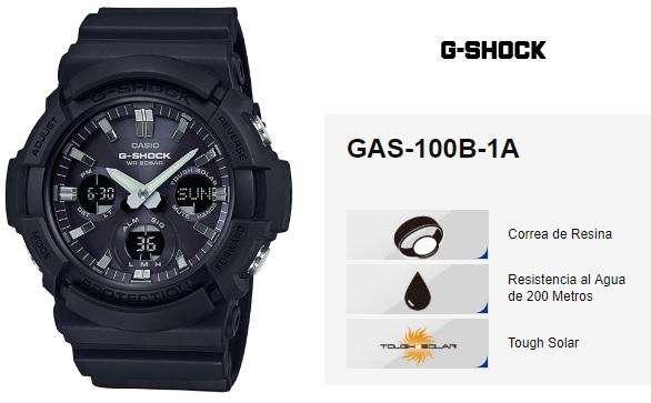 618a6a473215 Reloj  strong casio  strong  GShock GAS-100B-1A Solar