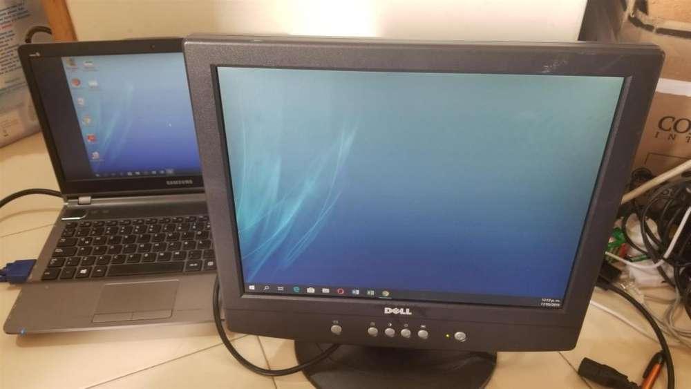 "T518 Monitor Dell E151Fpb de 15"", usado, ver fotos reales."