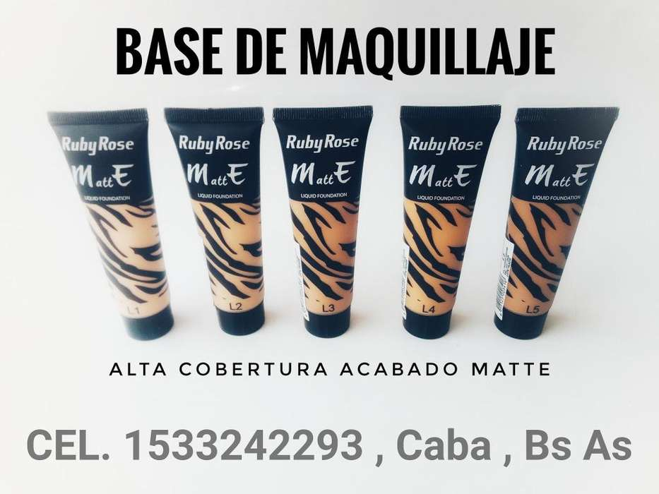 bases de <strong>maquillaje</strong> Ruby Rose