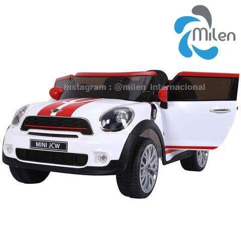 Mini Cooper eléctrico para niños, montable, control remoto, USB Musica