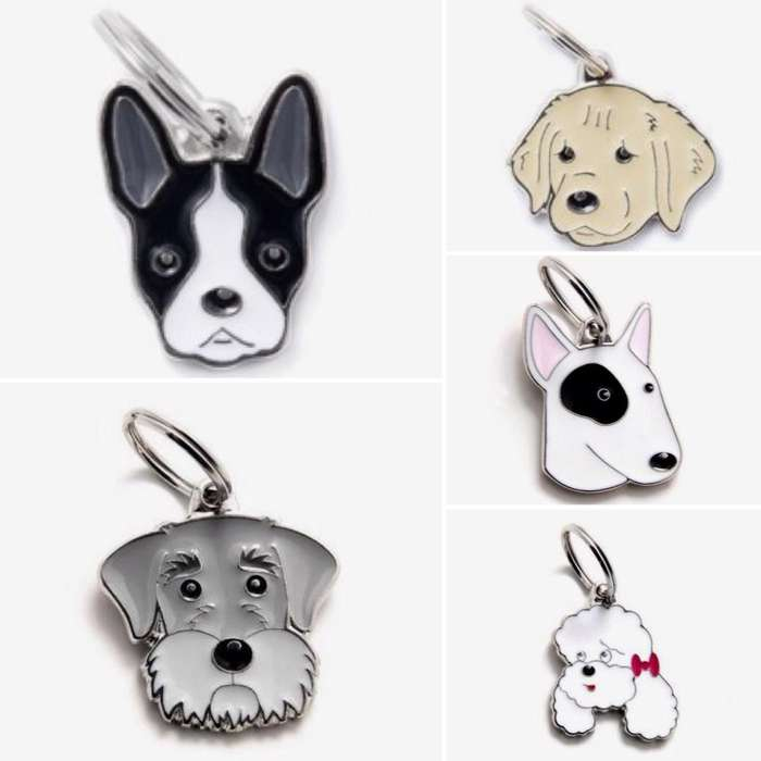 Veterinaria mascotas placas identificador perzonalizda de plata 950 para perro cachorro gato conejo animales artesania