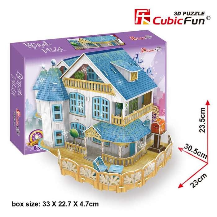 Rompecabezas 3d Rural Villa Dollhouse P635h