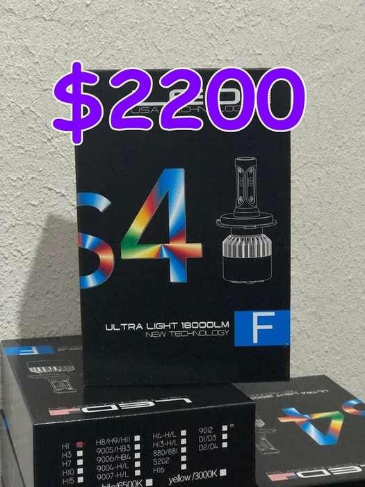 Cree Led S4 4 colores en una lampara 36.000 lúmenes por kit