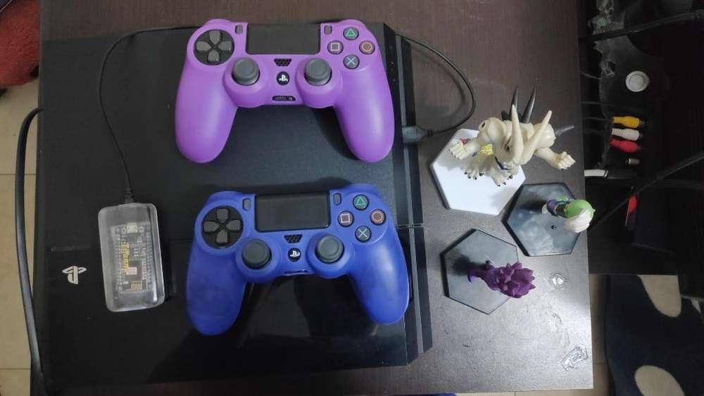 Ps4 Programada 2 Controles Muchos Juegos