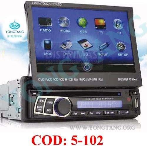 RADIO CON PANTALLA RETRACTIL DE 7 PLG 1DIN YONGTANG
