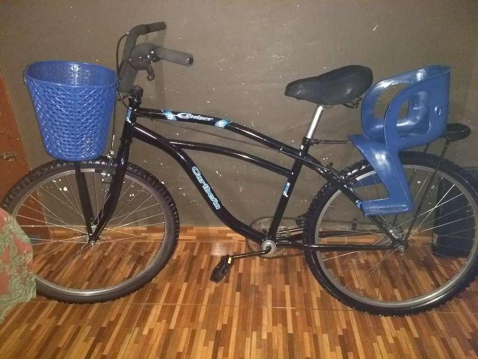 Bicicleta Rodado 26 con Parrilla Y Silla