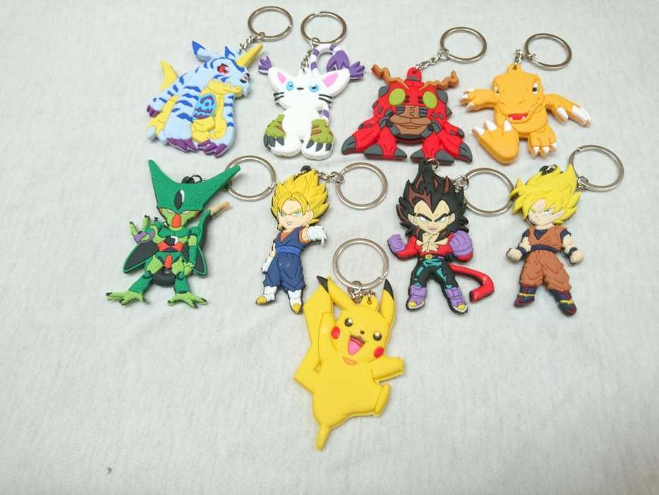 Llaveros de Digimon Y Dragon Ball
