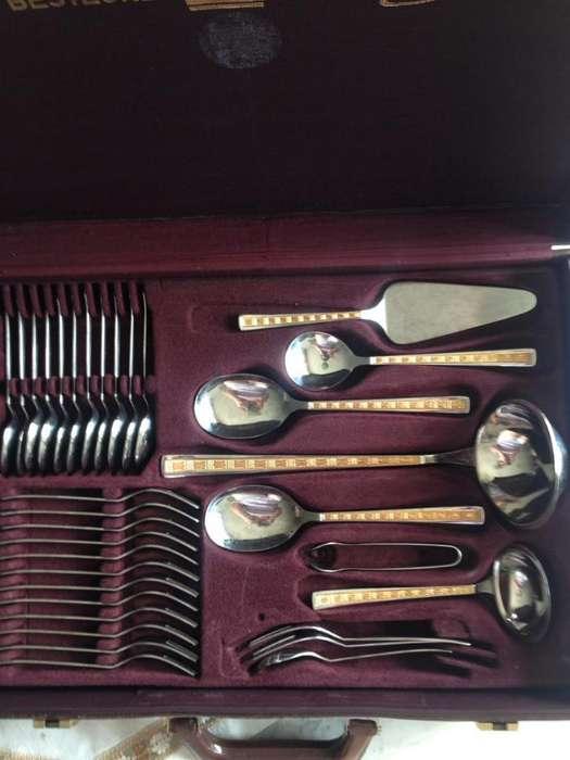 Cubiertos Gold Plate