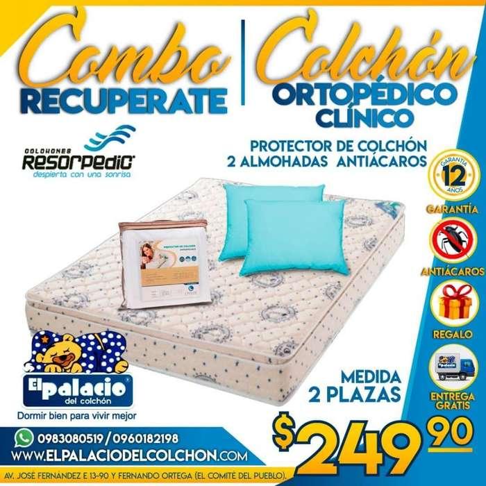 ((*OFERTAS*)) Colchones Ortopédico Clínico Para La COLUMNA Mas Protector de Colchon MAS <strong>almohadas</strong> ((LLAME 0983080519))