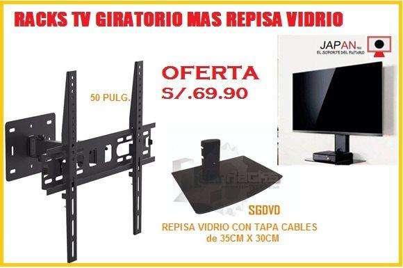 RACKS TV MAS REPISA PROMOCION ESPECIAL ENTREGAS LIMA CALLAO