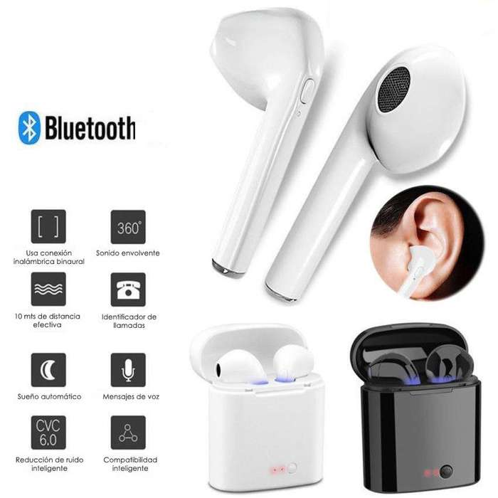 Audífonos Inalámbricos <strong>bluetooth</strong> Compatible Android iOS i7s