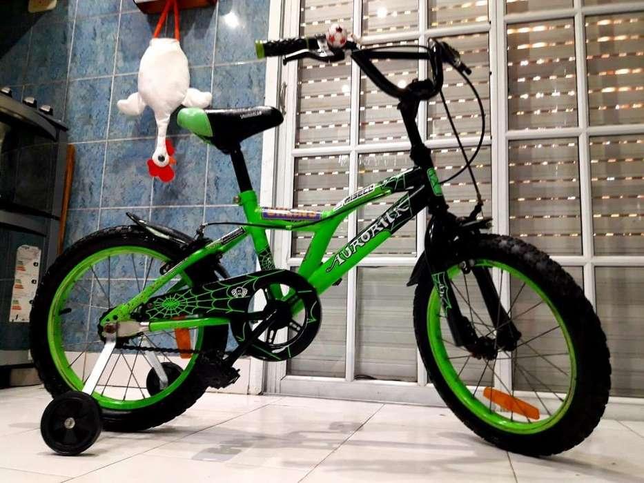 Bicicleta Bmx Rodado 16 Cn Rueditas