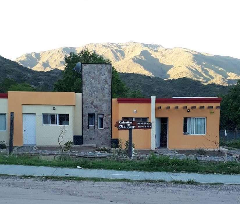 uz98 - Cabaña para 2 a 6 personas con pileta y cochera en Potrero De Los Funes