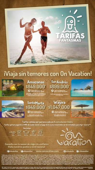 reserva y viaja con On Vacation.