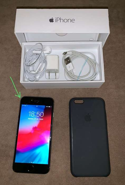 iPhone 6 64 GB gris liberado accesorios OPORTUNIDAD!! Lee la descripción