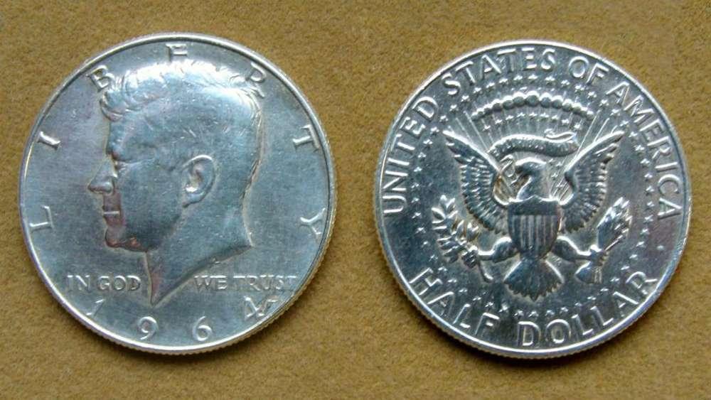 Moneda de ½ dólar de plata Estados Unidos 1964
