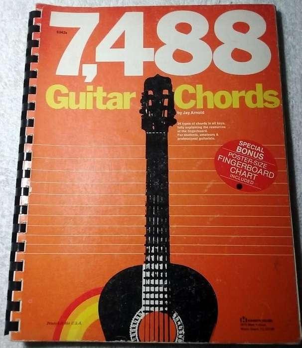 7488 Acordes para guitarra. GUITAR CHORDS Jay Arnold Afiche regalo Incluido. Estamos en Fusagasugá Silvania