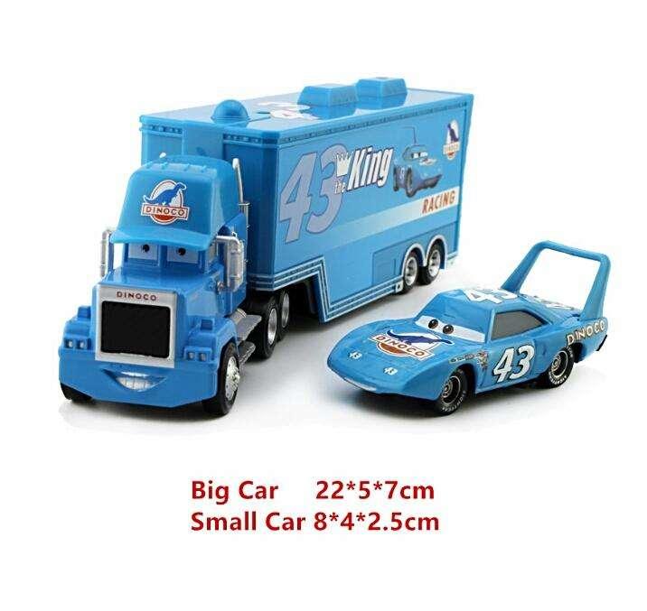 Pixar Cars Mack Uncle El Rey colección (Trailer y cars)