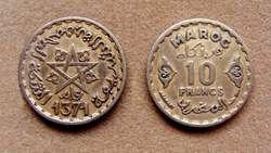 Moneda de 1 franco Marruecos 1945