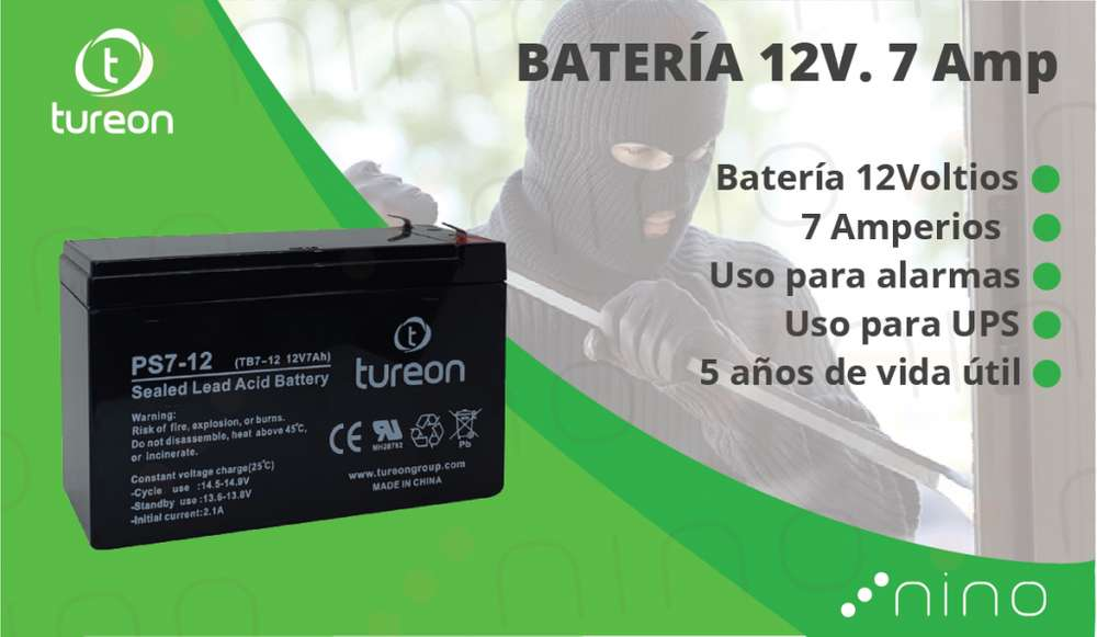 <strong>bateria</strong> 12 voltios. 7 amperios