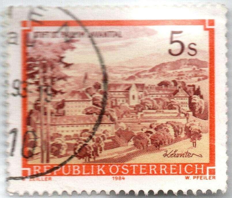 AUSTRIA. ESTAMPILLA. 5 CHELINES. 1985 (1984). SW 1864AZP. ESTADOS 7 DE 10. VALOR 600