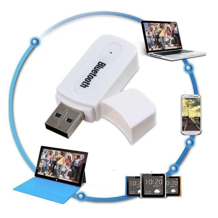 Adaptador Receptor De Audio Usb Bluetooth 2 En 1