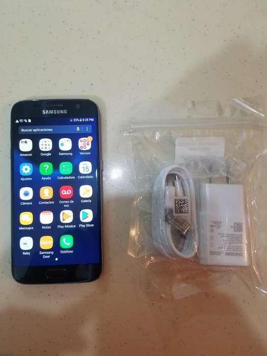 Samsung S7 32gb Libre Azul Como Nuevo