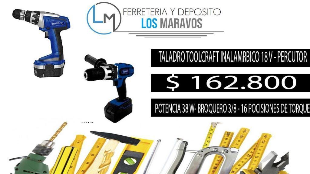 TALADRO TOOLCRAFT INALAMBRICO 18 V .