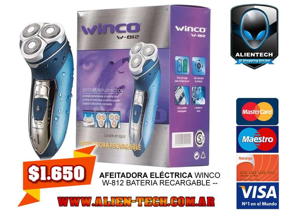 ALIENTECH: AFEITADORA ELÉCTRICA WINCO W-812 BATERIA RECARGABLE --