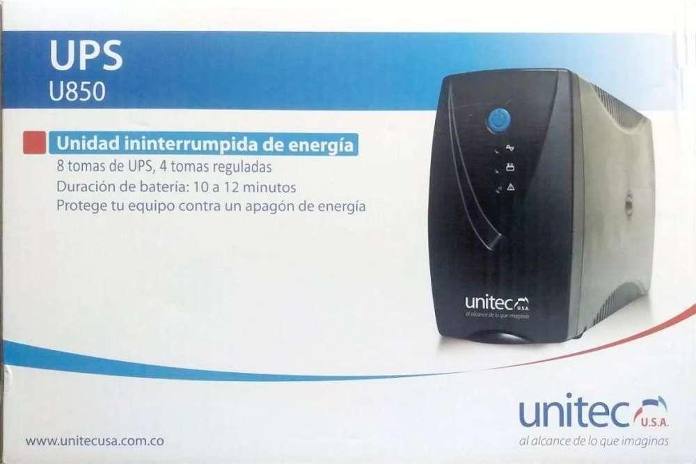UPS Interactiva 850 VA UNITEC regulador automático de Voltaje y picos