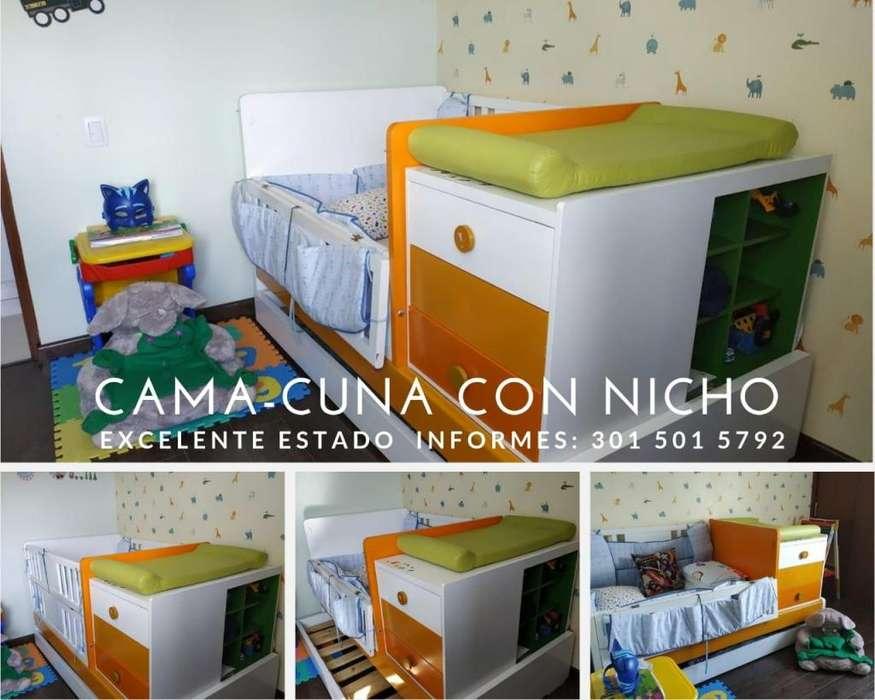 Cama Cuna con Cajonera Y Nicho