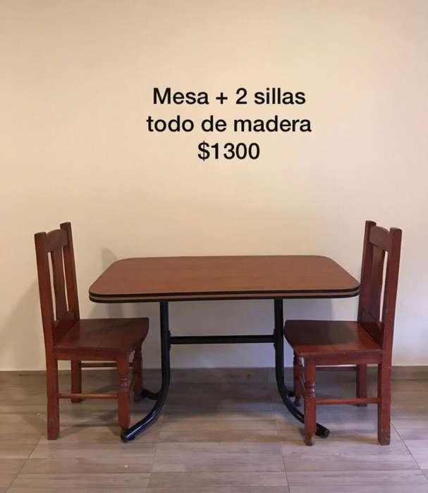 vendo mesa sillas, comoda por mudanza