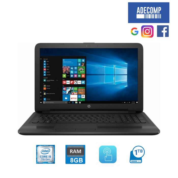 <strong>laptop</strong> HP i5 7ma Gen 8gb Ram 1TB HDD 15.6 Hd Tactil Touch
