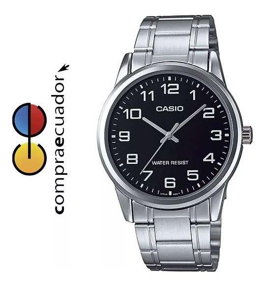<strong>casio</strong> Reloj Para Hombre Correa Metal Resiste Agua Mtp V001 D