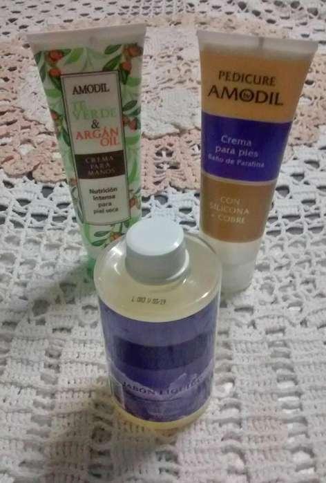 Promoción Crema para manos, Crema para pies y Jabón liquido