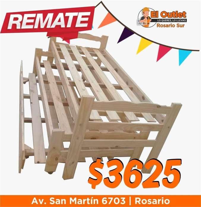 <strong>cama</strong> nido triple de pino