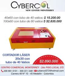 CORTADOR LÁSER DE 20*30 40 Vatios