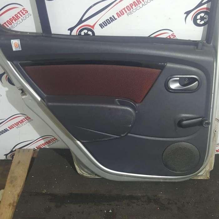 Tapizado Puerta Trasera Izquierda Renault Sandero 2090 Oblea:03396543